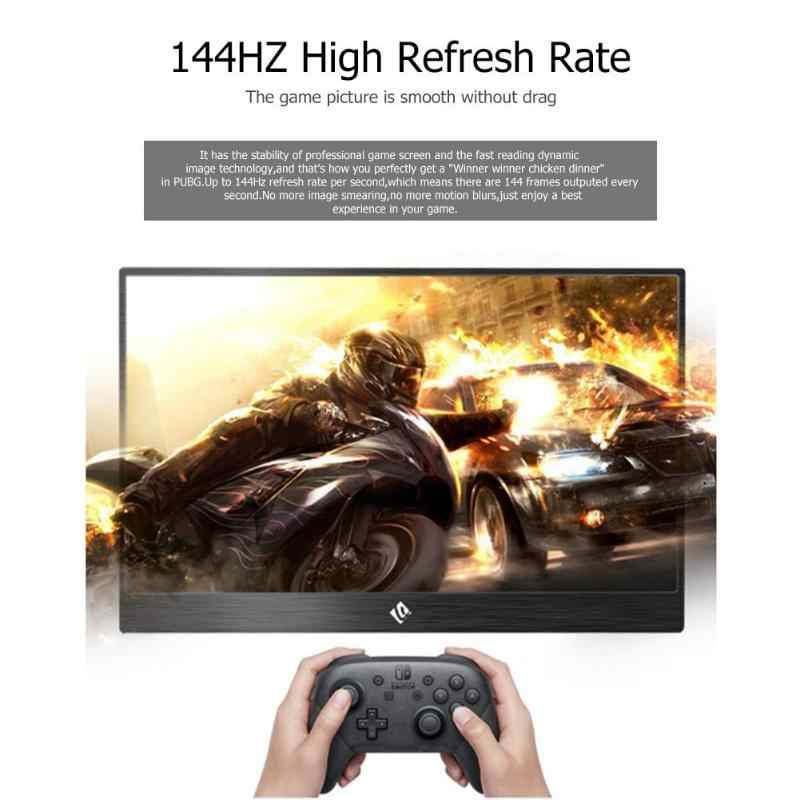 15 6 inch 144Hz 1080P HDR Monitor Portable Game Screen Display for PS4  Pro/XboxONE/NS Game Console HDMI stereo 3D surround sound