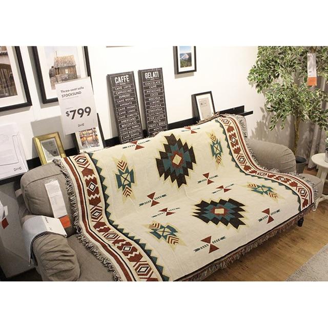 Multi Function Home Decor Aztec Navajo ผ้าขนหนูผ้าฝ้ายเก้าอี้โซฟาผ้าห่มพรมพรมสิ่งทอแขวนผนังตกแต่ง