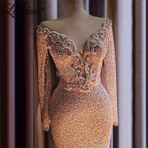 Image 5 - Moslim Avondjurk Kralen Kristallen Islamitische Dubai Saudi Arabische Lange Elegant Avond Party Jurken Lange Prom Dresses 2019 Couture