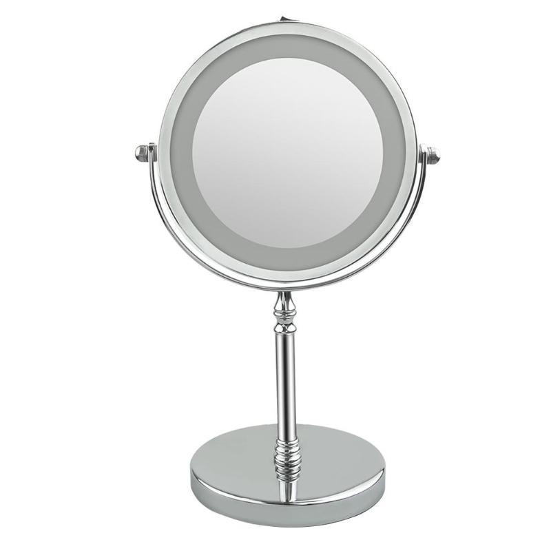 FäHig Led-leuchten Make-up Spiegel 7 Zoll 10x Vergrößerung Rund Make-up Spiegel Dual-sided Led 360 Grad Rotierenden Kosmetik Spiegel Haut Pflege Werkzeuge