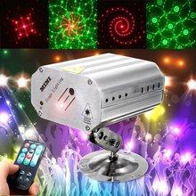 חג המולד מקרן DJ דיסקו אור קול בקרת אור מוסיקה LED Par לייזר מקרן שלב מועדון ריקודי מסיבת אורות תאורה
