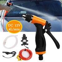 High Pressure Car Wash Water Pump Kit Marine Deck Sprayer Portable Car Washer Washing Machine Cigarette Lighter 12V 65w 4L/min