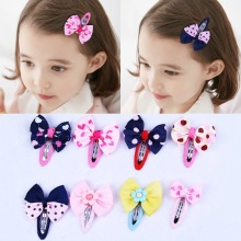 Baby Hair Clips Striped Bowknot Children grips Headwear Fashion Accessories Girls Hairpins