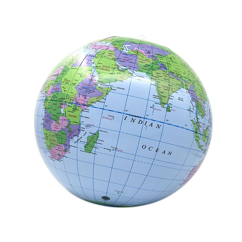 1pcs  Inflatable World Globe Teach Education Geography Toy Map Balloon Beach Ball Size 40cm Fast Shipping
