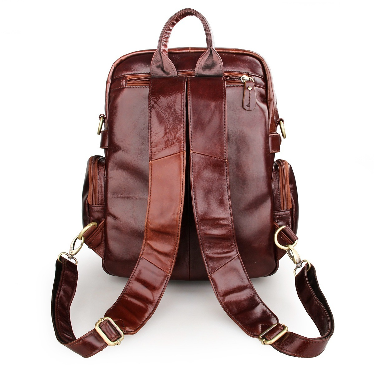 Escalade Sac Vache Loisirs Ordinateur Cuir Dos Hommes Étanche D'affaires Portable De Fonctionnel Brownish brown En Luxe Mochila Voyage Mâle À Red qS1wYfTnSr