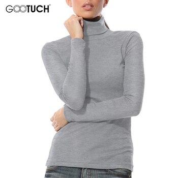 Hiver femmes col haut t-shirt mode à manches longues haut à col roulé t-shirts garder au chaud chemise 5XL 6XL femmes grande taille t-shirts 7095