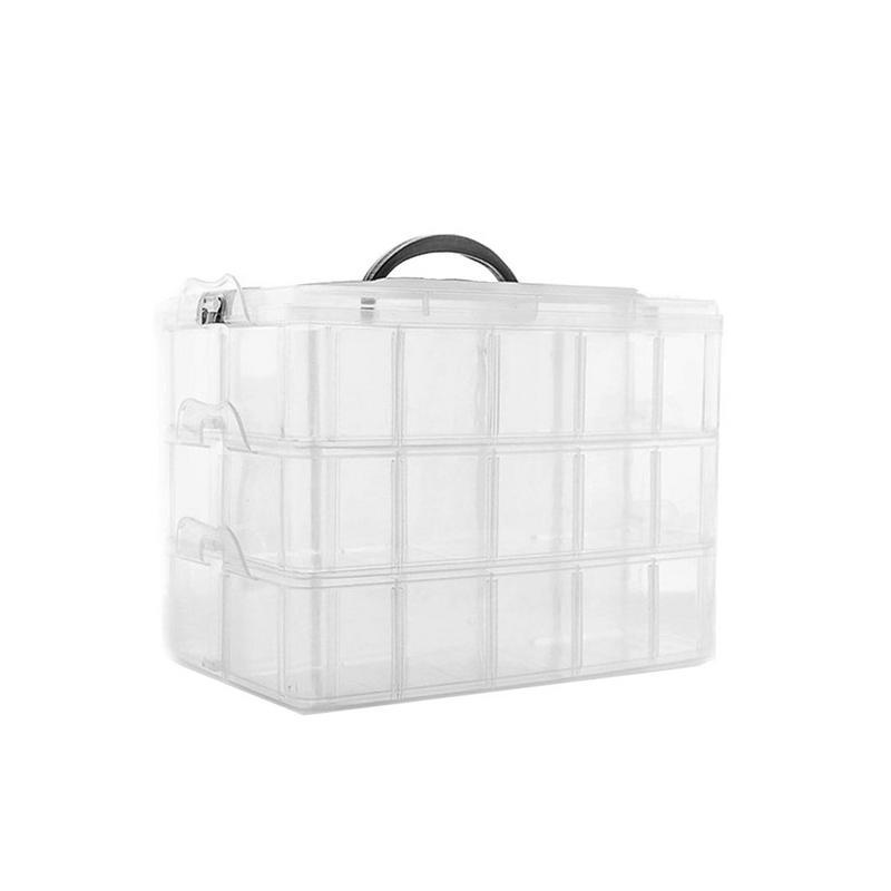 Detachable 30 Grid Storage Box Portable Three Layer Plastic Storage Box For Lego Toy Accessories Storage Box