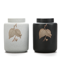 O chá chinês pode selado frasco de cerâmica cerâmica bruto Pu'er grande Oolong vasilha tanque de armazenamento de chá caddy caixa de embalagem verde