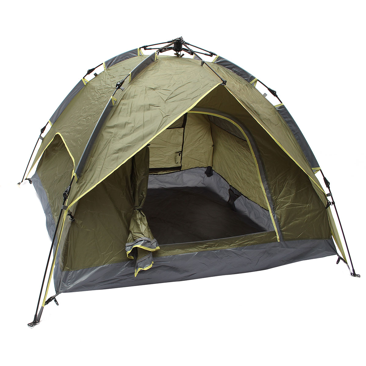 Outdoor 3-4 Persons Camping Tent Double Layer Waterproof Windproof UV Sunshade Canopy Outdoor Sport Beach Travel Hiking TentsOutdoor 3-4 Persons Camping Tent Double Layer Waterproof Windproof UV Sunshade Canopy Outdoor Sport Beach Travel Hiking Tents