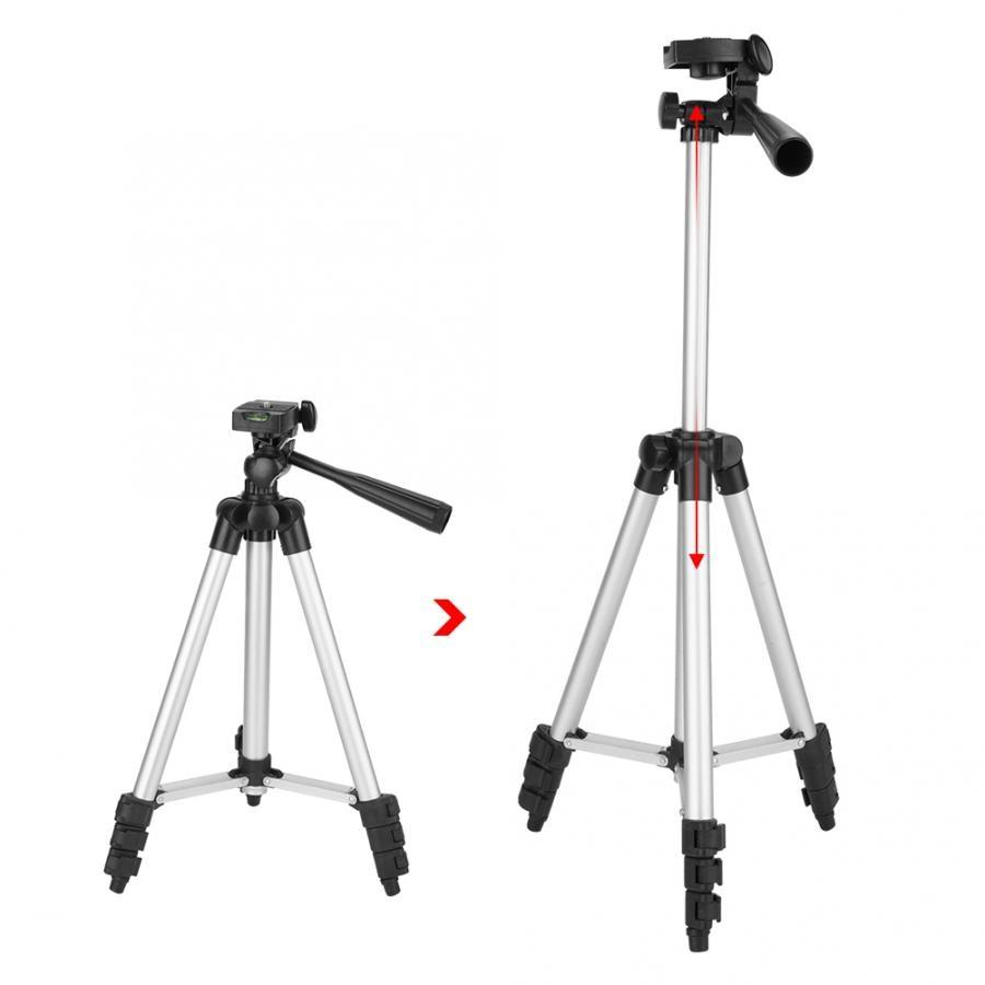 In Lega di alluminio 3110 Macchina Fotografica Proiettore Lampada di Pesca Phone Holder Treppiede per fotocamere digitali e piccole macchine fotografiche