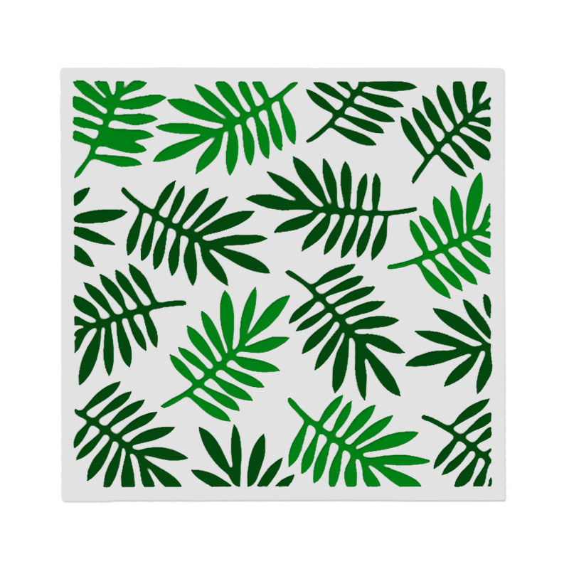 Green Plant Leaf PVC Layering Stencils For Walls Kids Painting Scrapbooking Stamp Photo Albums Decor Embossing Paper Cards DIY