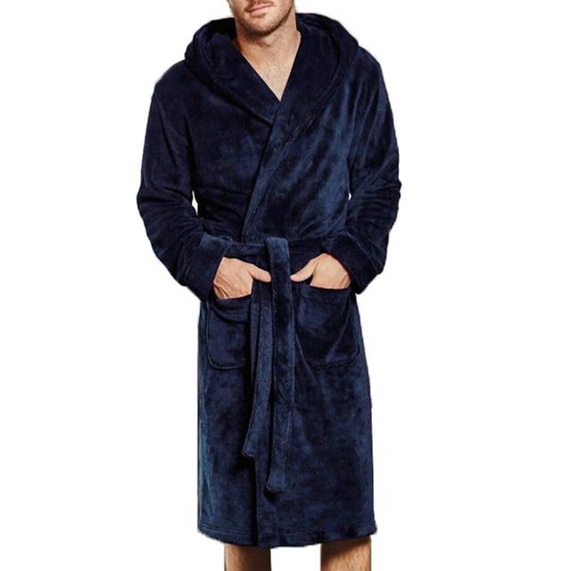 6eaa5701bd Luxury Men Bath Robes Winter Spring Hairy Warm Long Kimono Bathrobe Belt  Coat M 4XL Male Sleepwear Pajamas Lounges Robe Homewear-in Robes from  Underwear ...