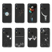 Space Moon Astronaut Cases For Huawei P 20 Pro Mate 10 Mate 10 Pro Universe Planet Soft TPU Back Cover For Huawei Honor 9 10(China)