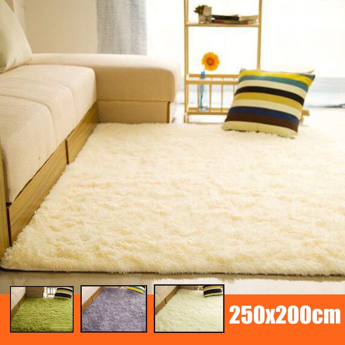 200X250 cm tapis Shaggy pour salon maison anti-dérapant chaud tapis en peluche tapis moelleux tapis enfants chambre fausse fourrure tapis soyeux