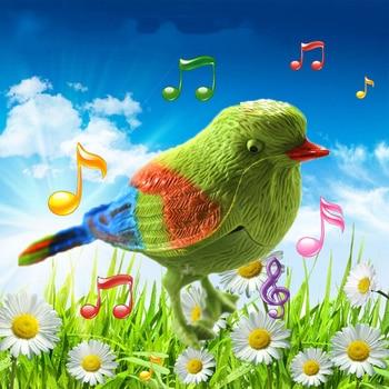 Bonitos juguetes electrónicos interactivos con pájaros cantantes Control de voz aves de imitación juguetes de música educativos para bebé niños regalo