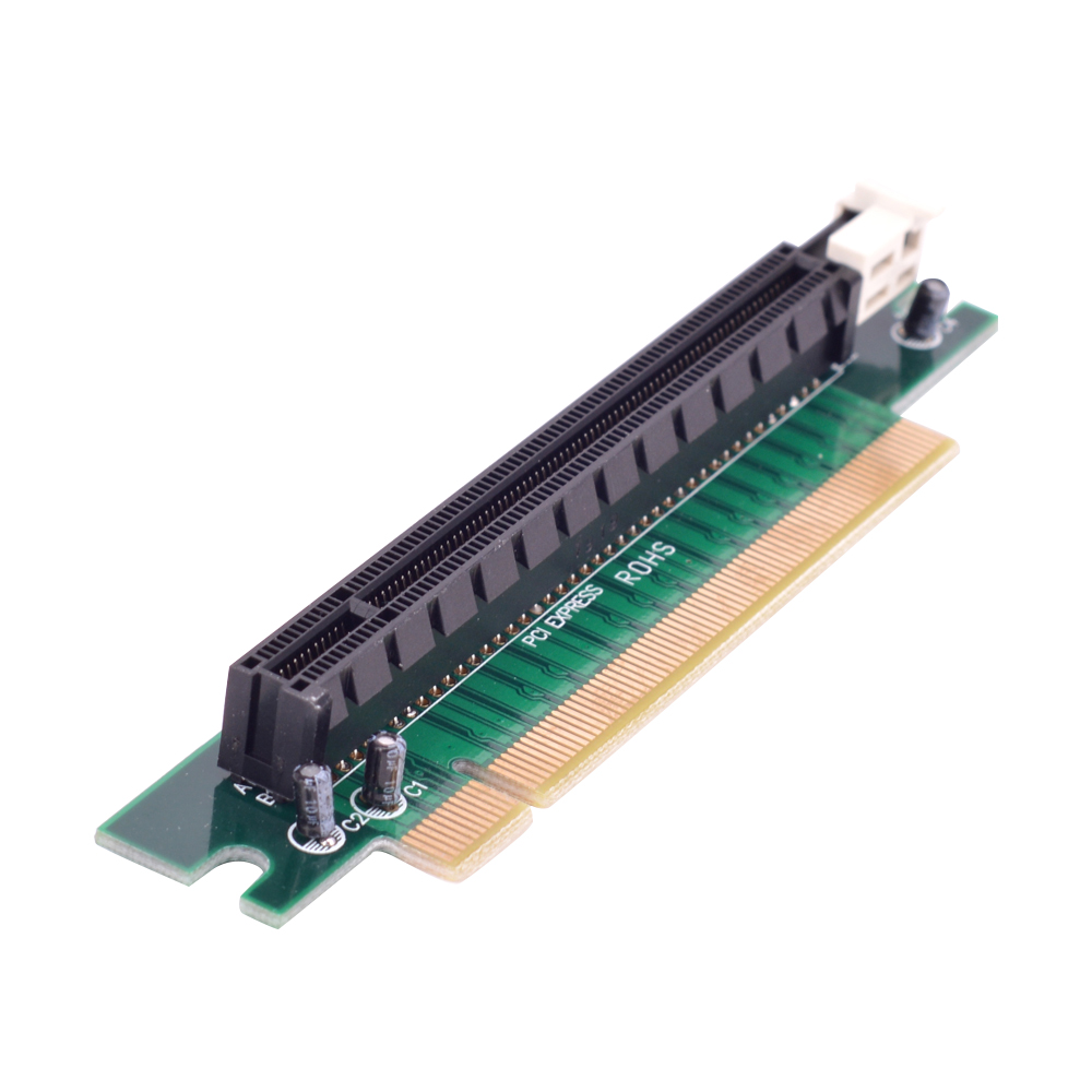 90° Degree Pci-E Pci-Express 16X Right Angle Extender Protector Riser Adapter Card
