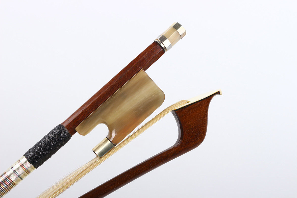 4/4 Cello Bow Advance Brazil Wood Ox Horn Frog HIgh Quality Horse Tail4/4 Cello Bow Advance Brazil Wood Ox Horn Frog HIgh Quality Horse Tail