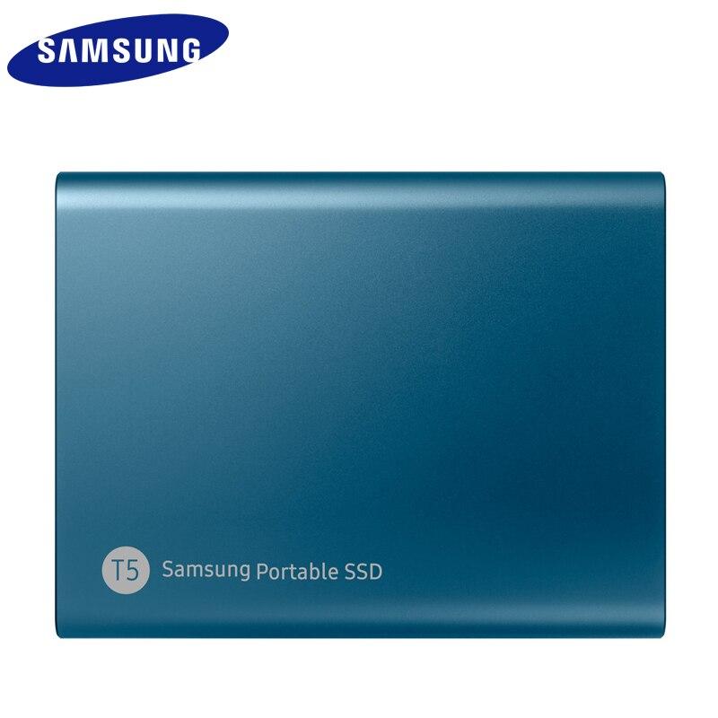 Samsung externo SSD T5 250gb 500g 1T 2T externo estado sólido Hd disco duro Usb 3,1 gen2 (10 gbps) y Compatible con atrás para PC - 5