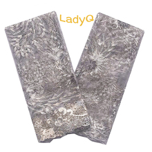 Aso Ebi Velvet Nigerian Lace Fabrics with Stones and Beads 2019 Africa Fabric 5 Yard 2017 Tulle Chemical Swiss