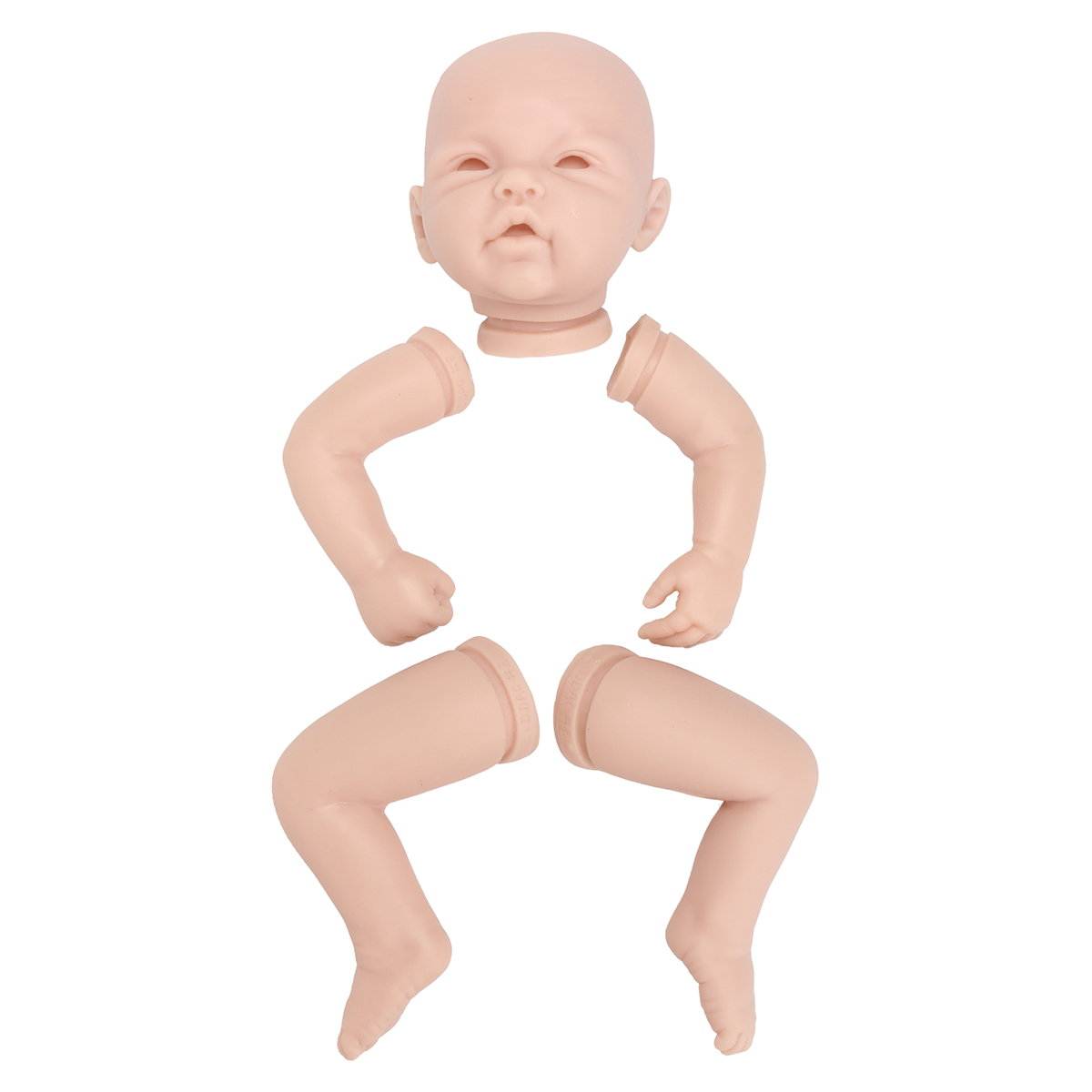 22 Inch Handmade DIY Reborn Kits Silicone Head Full Limb Mold Awake Baby Doll Unpainted Mold Making Different Appearance22 Inch Handmade DIY Reborn Kits Silicone Head Full Limb Mold Awake Baby Doll Unpainted Mold Making Different Appearance