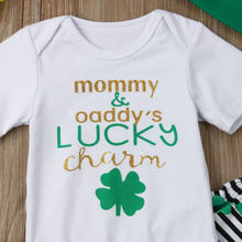 Baby First St.Patrick's Day Romper Pants Hat Set