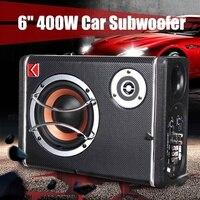 6 Inch 400W 12V Car Subwoofer Under Seat Sub Audio Speaker Music System Sound Car Speakers Subwoofer Car Audio Car Speaker