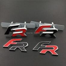 3D FR автомобильный передний гриль, значок из цинкового сплава, эмблема для кузова автомобиля, аксессуары для стайлинга автомобиля, наклейка ...