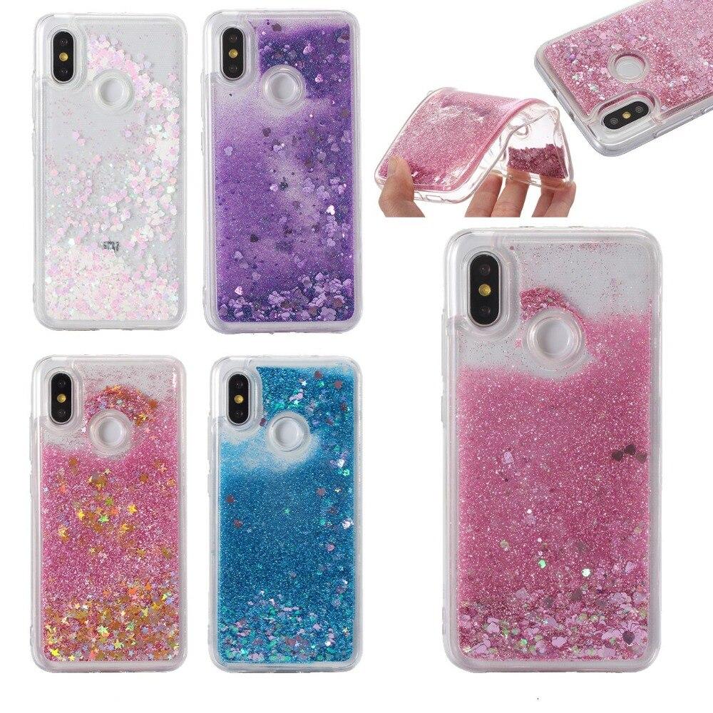 New Glitter Liquid Quicksand Case For Xiaomi Mi 9 A2 8 Lite F1 Redmi Note 7 5 6 Pro 5A 4X 4A 5A 6A 5plus S2 Y2 Clear Covers Case