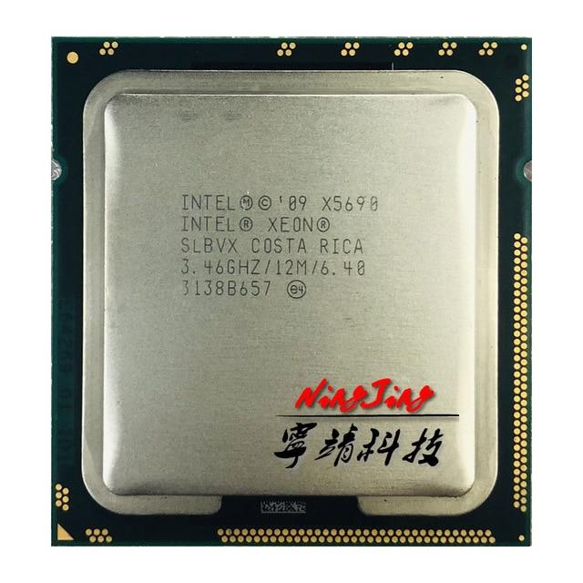 인텔 제온 x5690 3.4 ghz 6 코어 12 스레드 cpu 프로세서 12 m 130 w lga 1366
