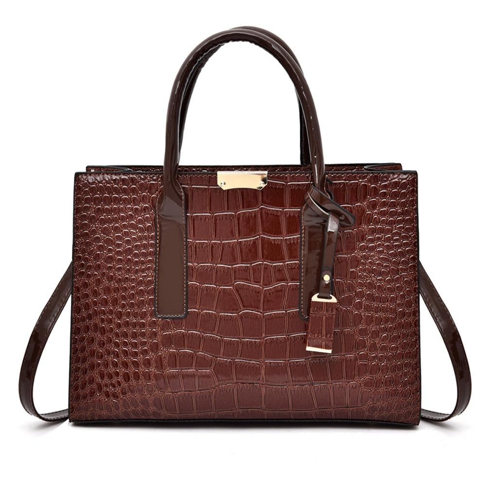 Fashion Women Totes Leather Famous Brands Handbag Casual Crocodile pattern Top handle Bag High Quality Shoulder Messenger Bag