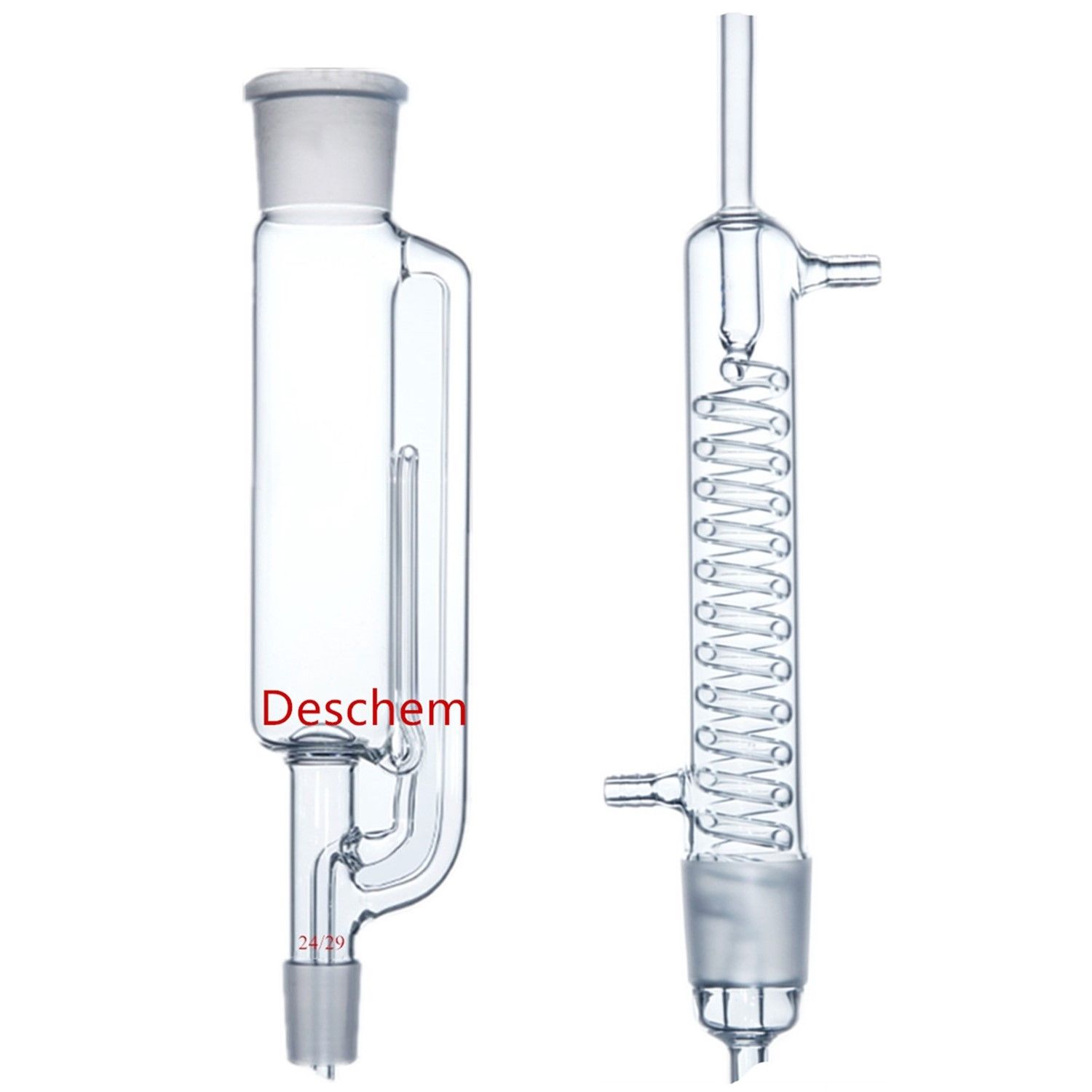 Deschem 500ml 24 29 Glass Soxhlet Extractor Body W Graham Coil Condenser