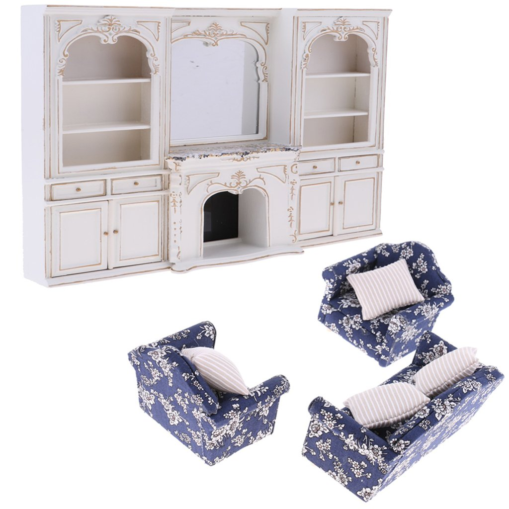 Outstanding 1 12 Scale Dollhouse Furniture Wooden Sofa Display Cabinet Miniature Doll House Accessories Toys Birthday Gift For Children Download Free Architecture Designs Scobabritishbridgeorg