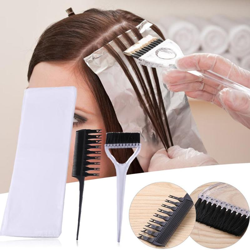 Professional 1 Set Removable Comb Coloring Brush Dye Paper Hairdressing Set Salon Barber Hair Care Tools