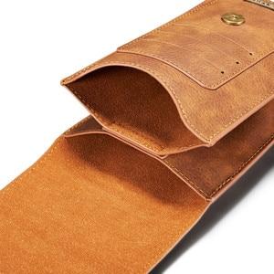 Image 2 - 5.2 ~ 6,5 zoll Leder Holster Fall für iPhone X XS MAX 7 8 6 plus Gürtel Clip Handy beutel für Samsung S10 S9 S8 plus Hinweis 8