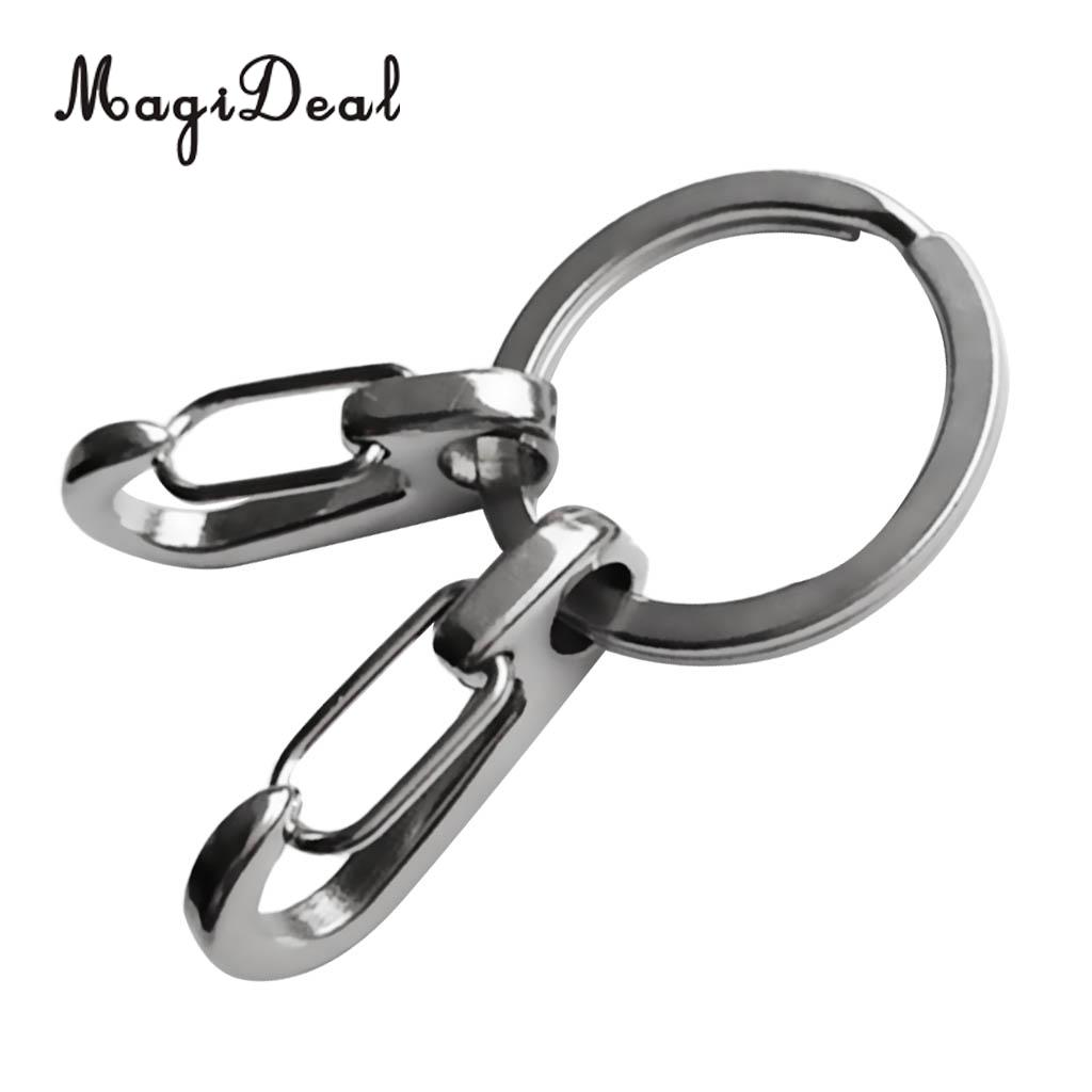 2 Pcs Stainless Steel Snorkeling Swimming Diving Quick Release Keychain Carabiner Snap Hook Quickdraw Clip With Key Chain