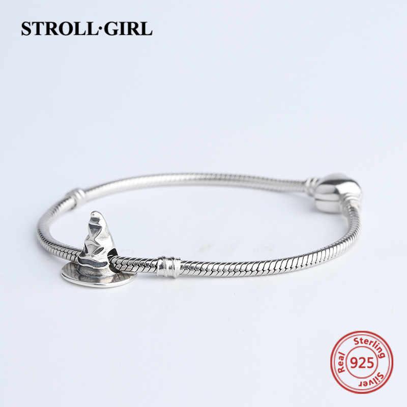 Strollgirl ขายร้อน 925 เงินสเตอร์ลิงออกซิเดชั่นหมวก Charm Fit สร้อยข้อมือ Pandora สร้อยข้อมือสำหรับผู้หญิงเครื่องประดับของขวัญ