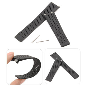 22mm Black Silicone Rubber WatchBand Strap Replacement For TAG Grand-Carrera Watch Men Breathable Diving Watch Strap Waterproof(China)