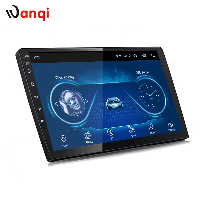 Wanqi 9 inch or 10 inch Android 8.1 Car GPS Multimedia Universal Navigation head unit for any car models with slim back