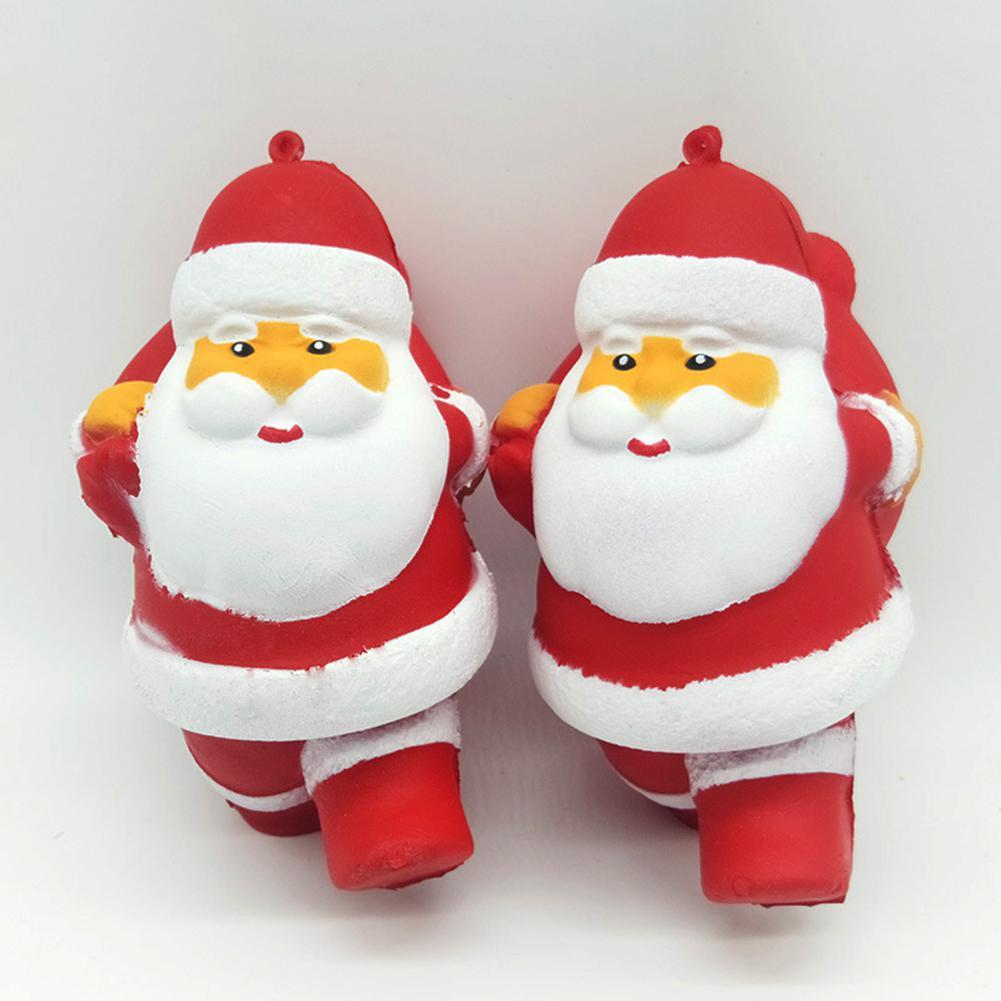 Christmas Slow Bounce Emulates Santa Claus Toys Decompression Squishy Toys