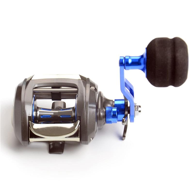 Moulinet à poisson secousse lente moulinet de coulée d'appât 12 + 1Bb roue de gabarit Max glisser 11Kg rapport de vitesse de roue de bateau 7.0: 1 moulinet de pêche au leurre carretilha #8