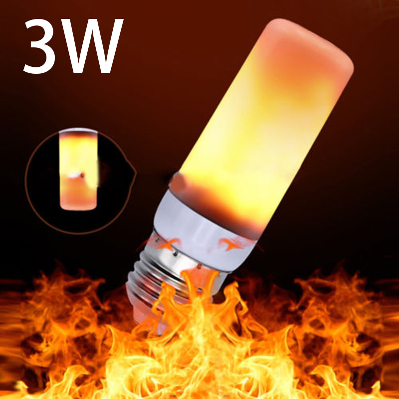 Dynamic Flame Effect LED Corn Light Bulb Lamp E27 Simulation Flicker Replace Gas Burning Lantern Flashlight Decoration Lamps