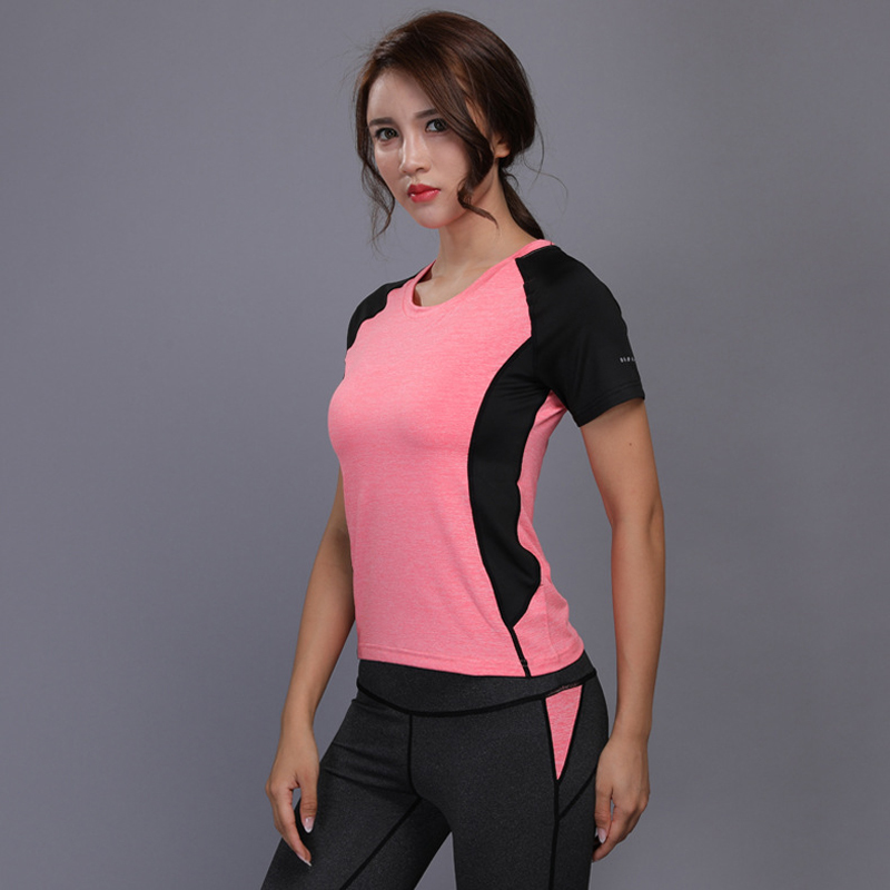 Women Sport Training Short Shirts Yoga Clothes Running Fitness Workout T-shirt Fitness Quick-drying Female Gym Sports Tops