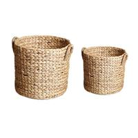 Hand woven Laundry Basket Fruit Plant Flowerpot Bag Toy Clothes Debris Organizer Storage Basket Home Products Supplies