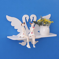 Creative Hollow Little Swan Wall Wall Pendant Decoration Shelf Word Shelf Partition Tv Background Wall Decorative Frame