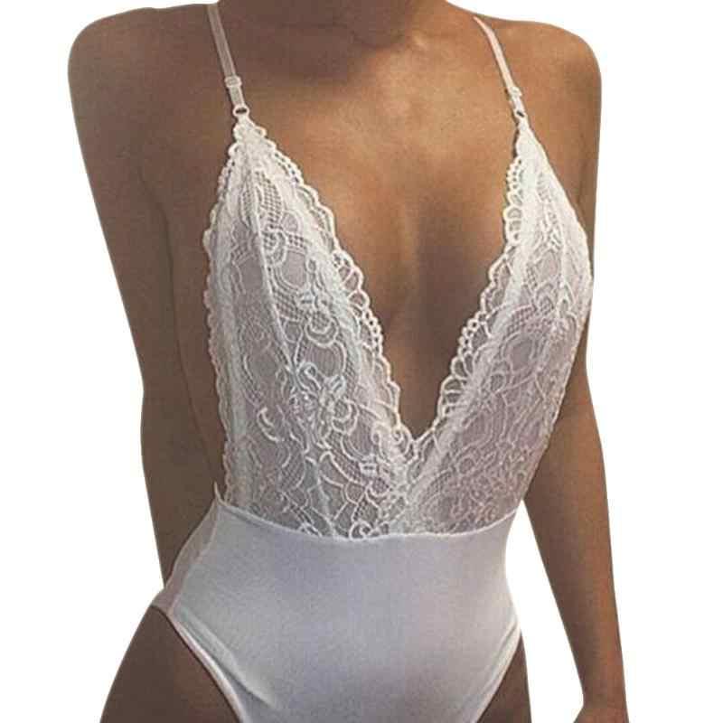 Nuevo traje de baño Sexy de mujer traje de baño de encaje traje de baño Bikini conjunto de ropa de playa blanco de una pieza