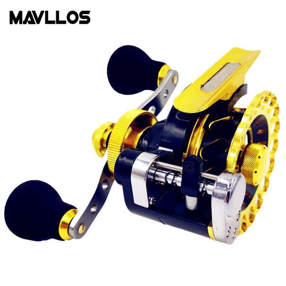 Mavllos Anti Corrosion Saltwater Spinning Reel 9BB Ratio 2 6 1 Gold Aluminum Alloy Winter Ice