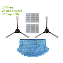 2Pcs Side Brush & Filter 1Pc Mopping Cloth Kit Part For Midea VCR15 VCR16