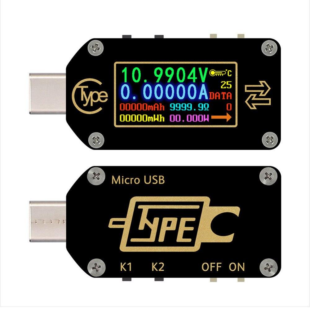 Tc66/tc66c Type-c Pd Trigger Usb-c Voltmeter Ammeter Voltage 2 Way Current Meter Multimeter Pd Charger Battery Usb Tester New B4
