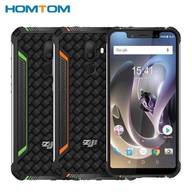 HOMTOM ZOJI Z33 4600mAh 3GB 32GB IP68 Waterproof phone 5.85inch HD+ 19:9 Smartphone Android 8.1 MTK6739 Face ID 4G Mobile Phone