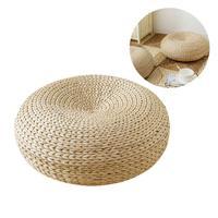 New Weaving Natural Straw Round Thicken Tatami Cushion Floor Cushions Meditation Yoga Round Mat Window Pad Chair Cushion Sitting